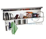 Giá inox cài dao, đũa, gia vị NewEra treo tủ giữa rộng 900mm