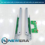 Ray trượt tủ bếp NewEra giảm chấn lắp âm toàn phần dài 350mm