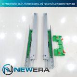 Ray trượt tủ bếp NewEra giảm chấn lắp âm toàn phần dài 300mm