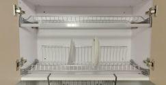 Giá để bát đĩa 2 tầng inox 304 cao cấp có khay hứng nước NE0280A