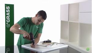 Hướng dẫn lăp đặt tay nâng tủ bếp đơn Grass Kinvaro S-35