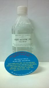 Dung dịch axit acetic 3% chai 500ml