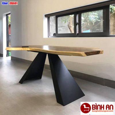 2 mẫu bàn ăn chân sắt mặt gỗ đẹp và chất lượng nhất hiện nay