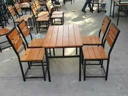 Bàn ghế nhà hàng khung sắt 1 bàn 4 ghế