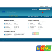 Hướng Dẫn Cấu Hình Bộ Phát Wifi Từ Sim 3G ZTE MF60