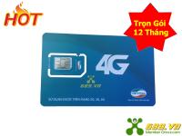 Sim 4G Viettel Trọn Gói 12 Tháng (4Gb/Tháng) Không Nghe Gọi