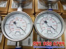 Đồng hồ áp suất chân không mặt 100mm G1/2″, NPT 1/2″, G1/4″, NPT 1/4″, M20, M27