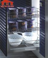 Phụ kiện gia vị 3 tầng đựng chai lọ Higold 305001 - inox 304