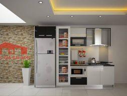 Tủ bếp Acrylic thùng mdf chống ẩm