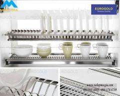 Khay úp chén cố định Eurogold inox 304 EP160