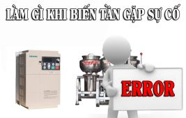 Biến tần báo lỗi và máy xay giò chả dừng hoạt động?