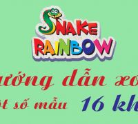 Hướng dẫn xoay ghép một số mẫu Snake Rainbow 16 khúc