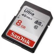Thẻ nhớ 8GB SD Ultra Class 10, UHS-1, Read 40MBs SanDisk