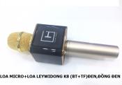 Loa Micro + Loa Leywidong K8 (BT+TF) Đen, Đồng Đen