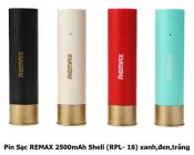 Pin Sạc Remax 2500mAh Shell (RPL-18) xanh,đen,trắng