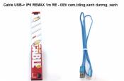 Cáp sạc Iphone6 Remax 1m RE - 005i cam,trắng, xanhduong, xanh