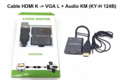 Cáp HDMI K to VGA L+ Audio KM (KY-H 124B)