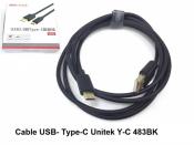 Cáp USB Type C Unitek Y-C483BK