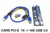 Card PCI - E 1x - 16X USB 3.0