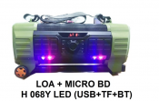 Loa + Micro BDH068Y (USB + TF - BT)