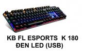 KB EL ESPORTS K180 Đen Led (USB)