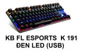 KB EL ESPORTS K 191 Đen Led (USB)