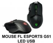Mouse EL ESPORTS G51 Led