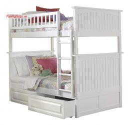 Giường 2 tầng D21 (mầu trắng)