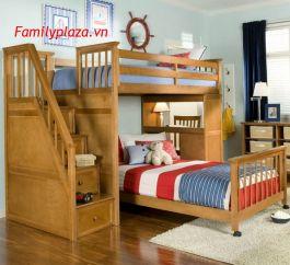 giường 2 tầng bàn học D201 ( mầu gỗ)