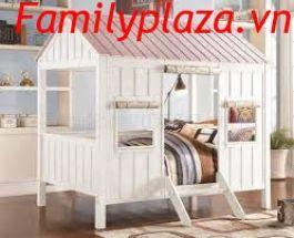 Giường lều công chúa D202 ( trắng hồng)