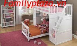 Giường 2 tầng bàn học D201 ( mầu trắng))
