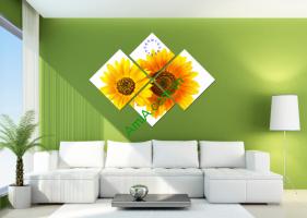 Những mẫu tranh Hoa Cúc, tranh hoa Hướng dương đẹp