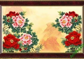 Những mẫu tranh hoa Mẫu đơn đẹp, ý nghĩa