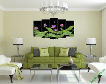 Tranh hoa sen đẹp kiểu tranh ghép bộ nghệ thuật AmiA 380