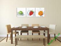 Mẫu tranh phòng ăn nhà bếp hoa quả AmiA 314