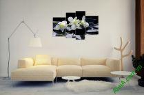Tranh hoa Lan và Đá ghép bộ nghệ thuật AmiA 366