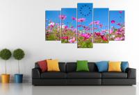 Tranh phong cảnh mùa xuân hoa cỏ khoe sắc