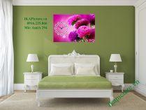 Tranh hoa cúc tím một tấm treo phòng ngủ đẹp AmiA 294