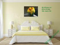 Tranh đôi chim tình yêu treo tường phòng ngủ AmiA 326