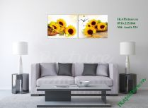 Mẫu tranh trang trí hoa hướng dương tuyệt đẹp AmiA 524