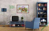 TSD157 - Tranh hoa mẫu đơn nghệ thuật vẽ sơn dầu
