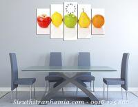 Tranh treo phòng ăn hoa quả tươi ngon AmiA 148