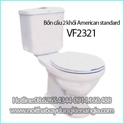 Bồn cầu bệt 2 khối American standard VF-2321