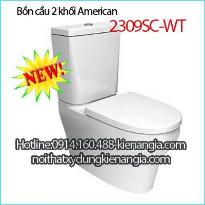 Bồn cầu bệt 2 khối American Standard 2309SC-WT