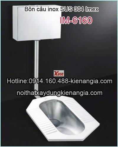 Bồn cầu két nước treo inox 304 IMEX IM-6160