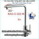 Vòi rửa chén nóng lạnh sus 304 KAG-O322-IN