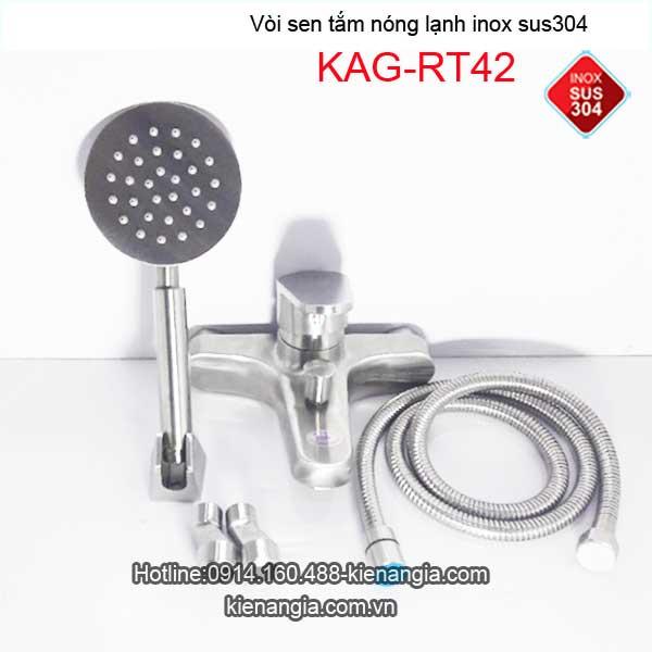Vòi sen tắm nóng lạnh sus304 KAG-RT42