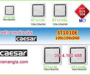 THOÁT SÀN CAESAR INOX 304 MỜ 100X100XD60 ST1010E