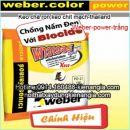 Keo chà ron Thái Lan Weber-power-trắng
