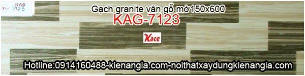 Gạch giả gỗ granite mờ 150x600 KAG-7123